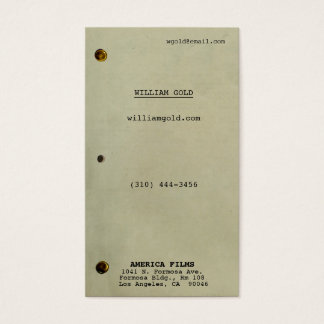 Screenplay Vintage Business Card