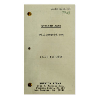 Screenplay Vintage Pack Of Standard Business Cards