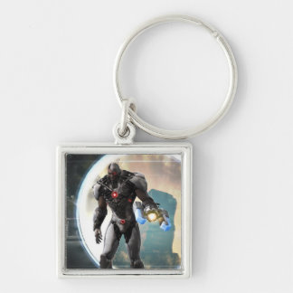 Screenshot: Cyborg 2 Silver-Colored Square Keychain