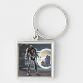 Screenshot: Cyborg 3 Silver-Colored Square Keychain