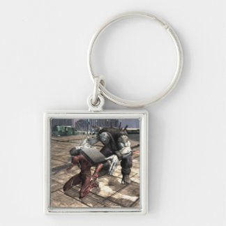 Screenshot: Flash vs Grundy 2 Silver-Colored Square Keychain