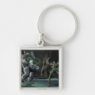 Screenshot: Grundy vs Green Arrow Silver-Colored Square Keychain