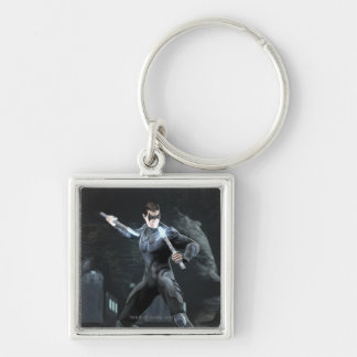 Screenshot: Nightwing Silver-Colored Square Keychain
