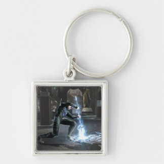 Screenshot: Nightwing vs Flash Silver-Colored Square Keychain