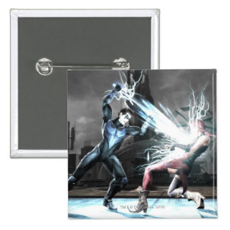 Screenshot: Nightwing vs harley 2 Inch Square Button