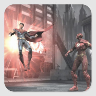 Screenshot: Superman vs Flash Square Sticker