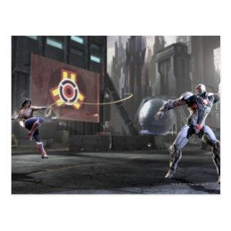 Screenshot: Wonder Woman vs Cyborg 2 Postcard
