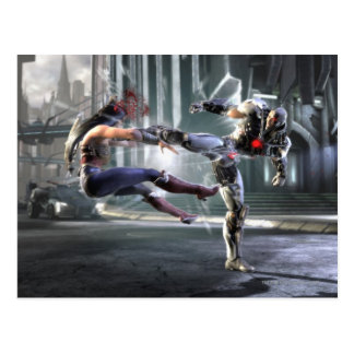 Screenshot: Wonder Woman vs Cyborg Postcard