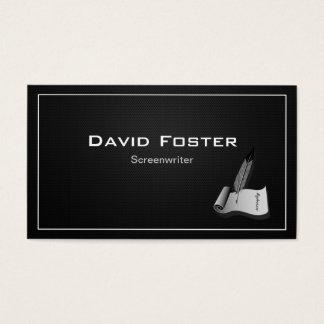 Screenwriter in film television theatrical Script Business Card