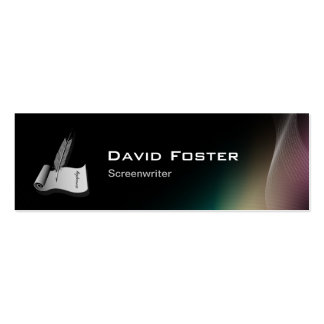 Screenwriter in film television theatrical Script Pack Of Skinny Business Cards