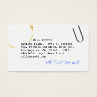 Screenwriter v business card