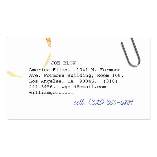 Screenwriter vi business card