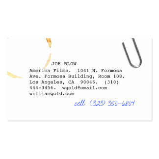 Screenwriter vi pack of standard business cards