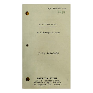 Screenwriter Vintage Business Card Template