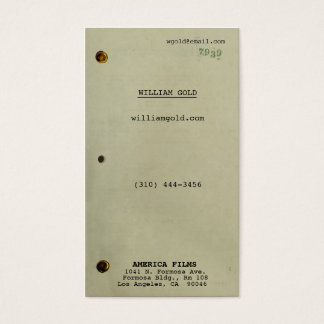 Screenwriter Vintage Business Card