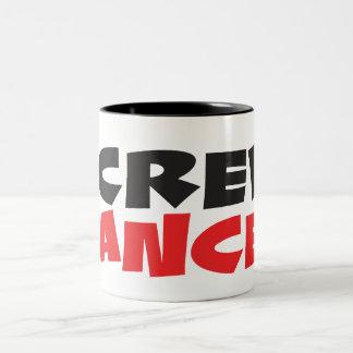 Screw Cancer Two-Tone Coffee Mug