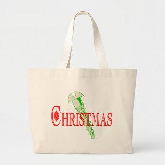 Screw Christmas Large Tote Bag