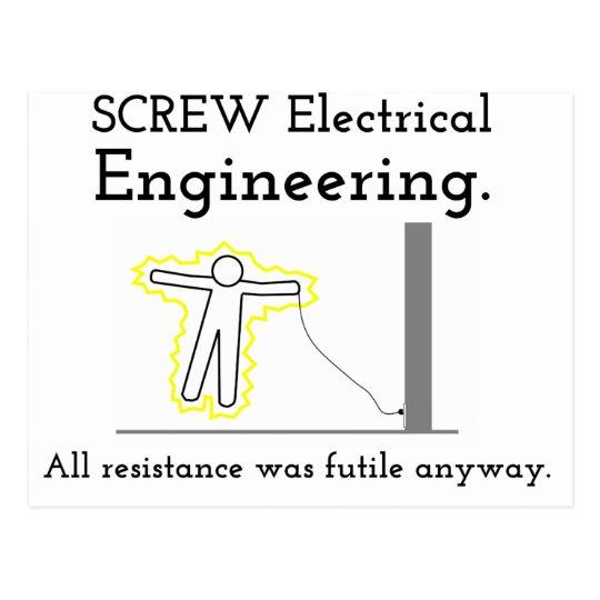 Screw Electrical Engineering Postcard