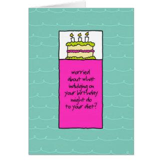 Screw the Carbs Birthday Cake Card