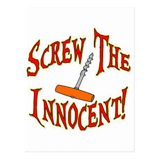 Screw The Innocent! Postcard