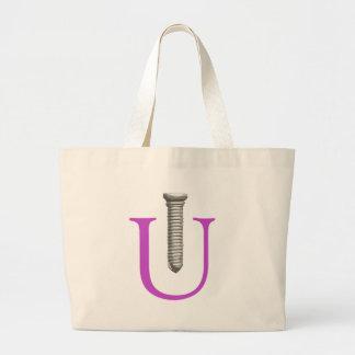 Screw U Large Tote Bag