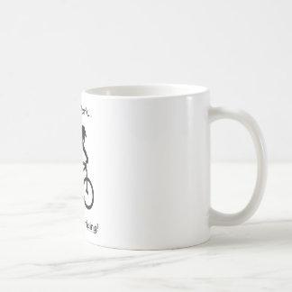 Screw Work-Mountain Biking Basic White Mug