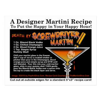 Screwdriver Halloween Martini Recipe Postcard
