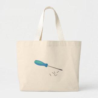Screwdriver Large Tote Bag