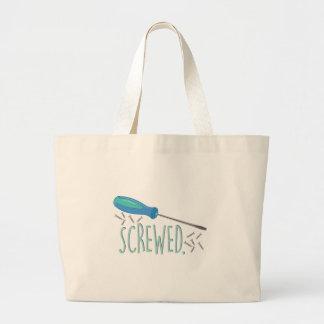 Screwed Large Tote Bag