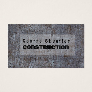 Screwed On Grunge Cement Modern Minimalist Business Card