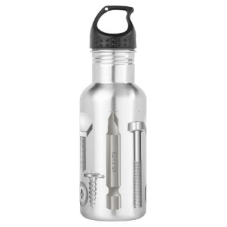 Screws Drill Bit Mechanic Carpenter Water Bottle