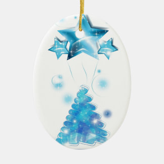 Scribble Christmas Tree with stars balloons Ornaments