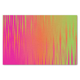 Scribble Effect in a Pink, Orange and Lime Green Tissue Paper