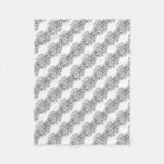 Scribble Fleece Blanket