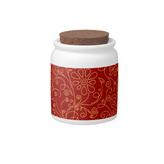 scribble flower background candy jar