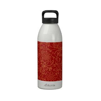 scribble flower background drinking bottles