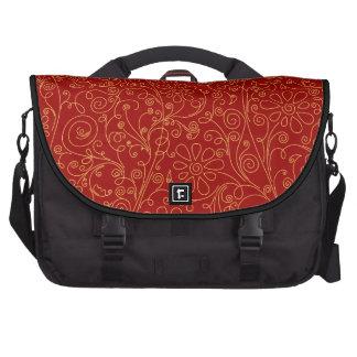 scribble flower background laptop bag