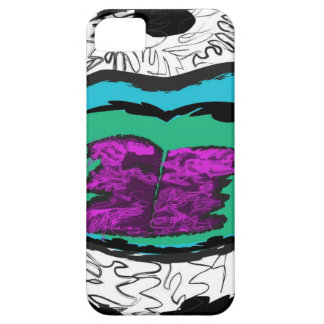 Scribble lips iPhone 5 cover