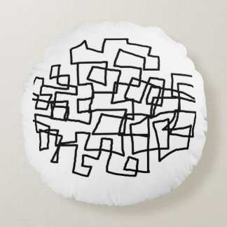 Scribble Round Pillow