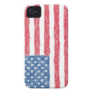 Scribble Style American Flag iPhone 4 Covers
