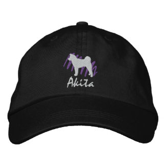 Scribbled Akita Embroidered Hat