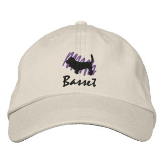 Scribbled Basset Embroidered Hat