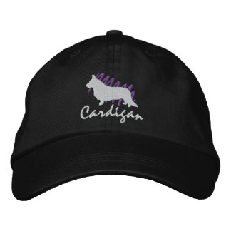 Scribbled Cardigan Embroidered Hat