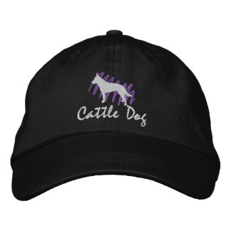 Scribbled Cattle Dog Embroidered Hat