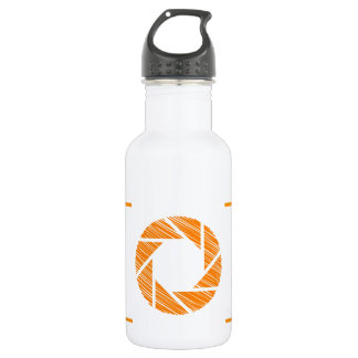 Scribbled photography aperture 532 ml water bottle