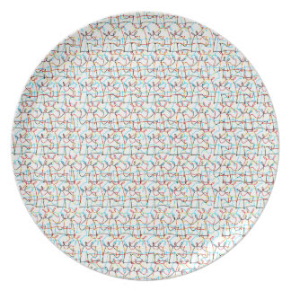 Scribbled Unicorns Party Plate