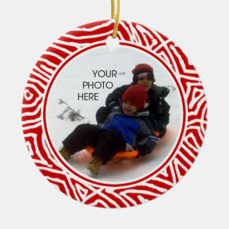 Scribbleprint Christmas Ceramic Ornament