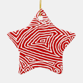 Scribbleprint Star (One Sided) Ornament