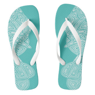 Scribbleprint Waves Flip Flops