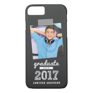 Scribbles Sketch Graduate Class Of 2017 Graduation iPhone 8/7 Case